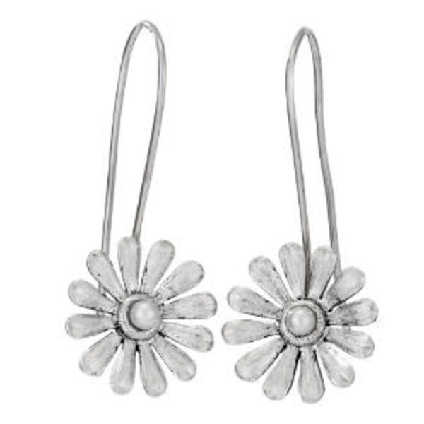 Flower Earrings With Pearl