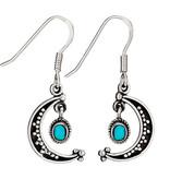 Moon Earrings With Turquoise