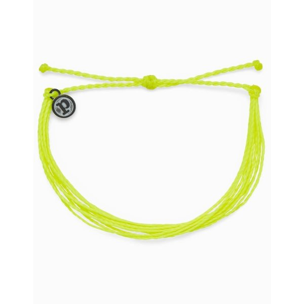 Pura Vida Bright Solid Neon Yellow Bracelet
