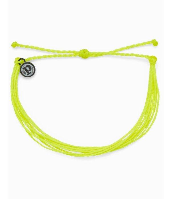 Pura Vida Pura Vida Bright Solid Neon Yellow Bracelet