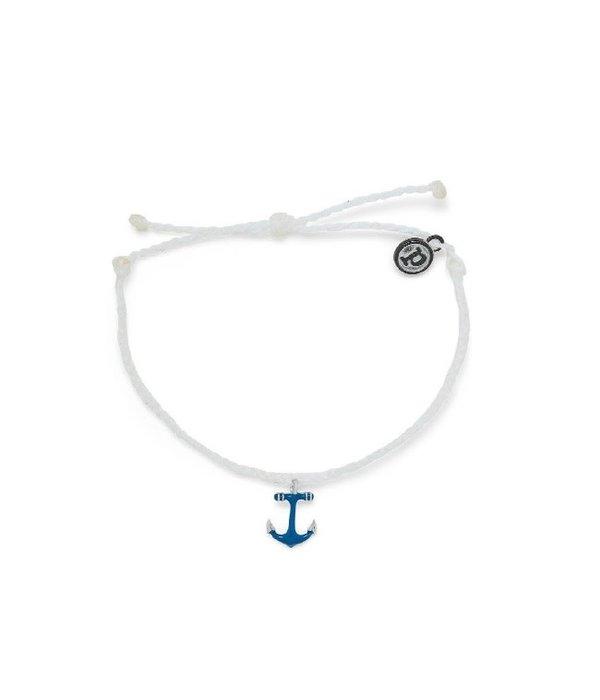 Pura Vida Pura Vida Blue Anchor Bracelet