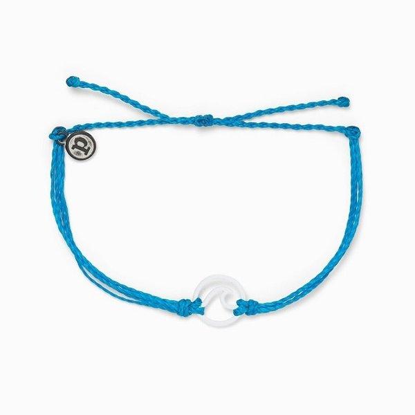 Pura Vida White Enamel Wave Bracelet