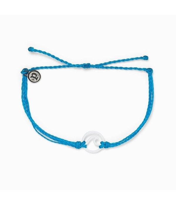 Pura Vida Pura Vida White Enamel Wave Bracelet