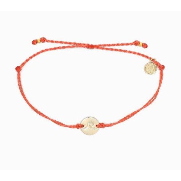 Pura Vida Wave Coin Coral Bracelet