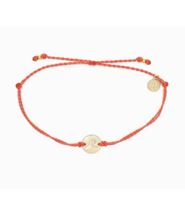 Pura Vida Pura Vida Wave Coin Coral Bracelet