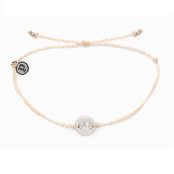 Pura Vida Wave Coin Vanilla Bracelet