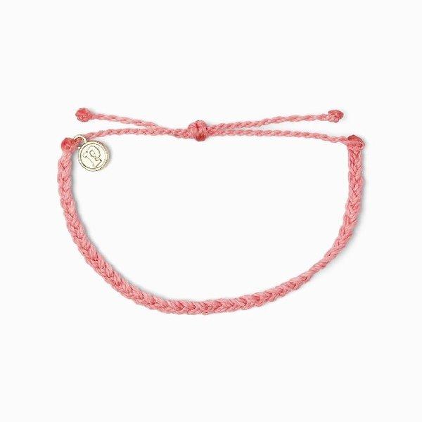 Pura Vida Pink Braided Bracelet