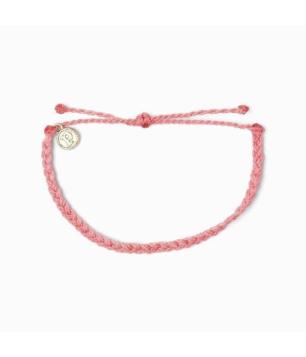 Pura Vida Pura Vida Pink Braided Bracelet