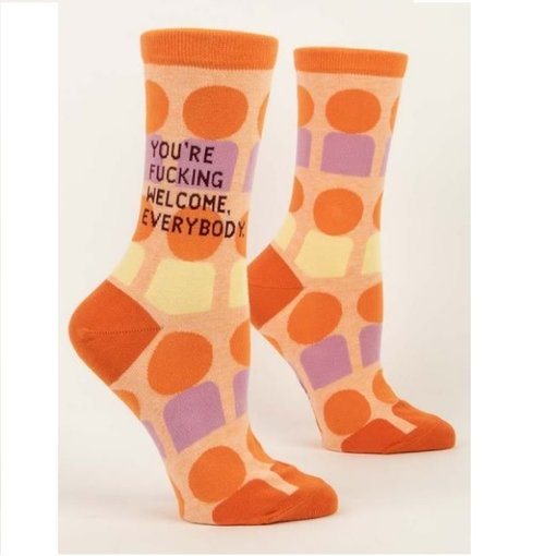 Blue Q You're F*ing Welcome Women's Socks