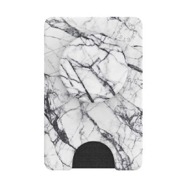 White Marble Pop Wallet