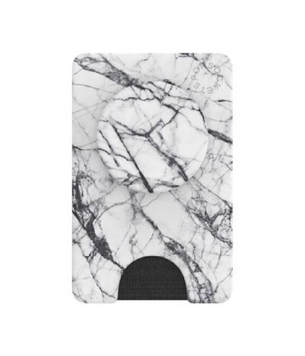 PopSockets White Marble Pop Wallet