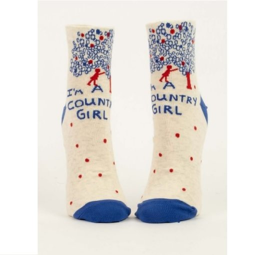 Blue Q I'm a Country Girl Women's Ankle Socks