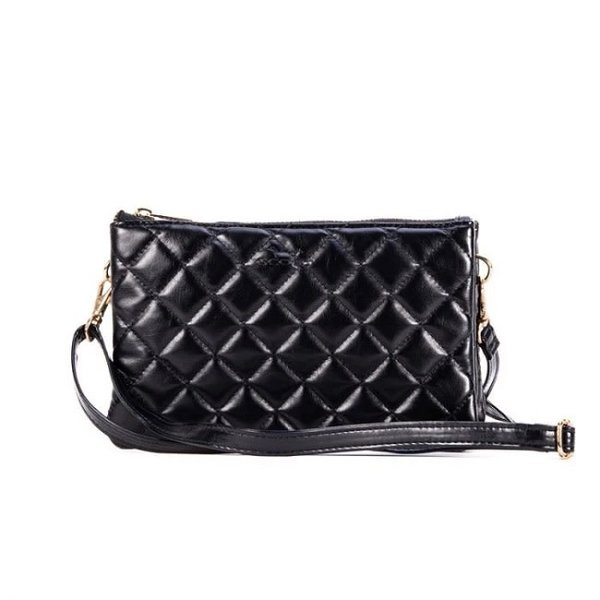 Carson Crossbody Quilted Black