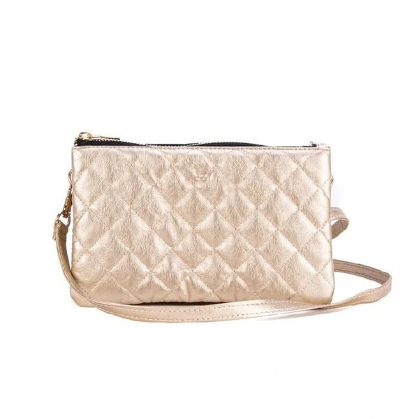 Carson Crossbody Quilted Gold