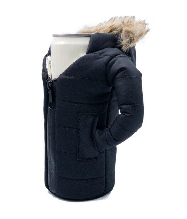 Puffin Coolers Parka Koozie Black
