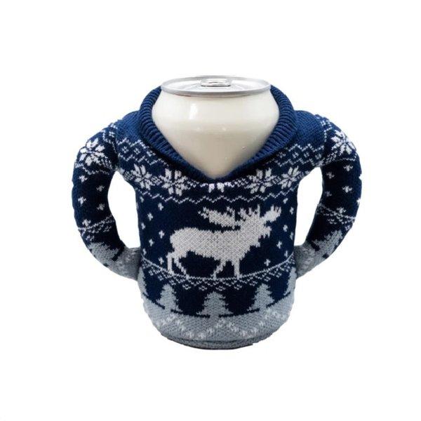 Sweater Koozie Blue