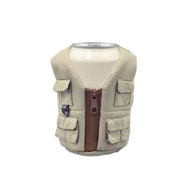 Adventure Vest Koozie Tan