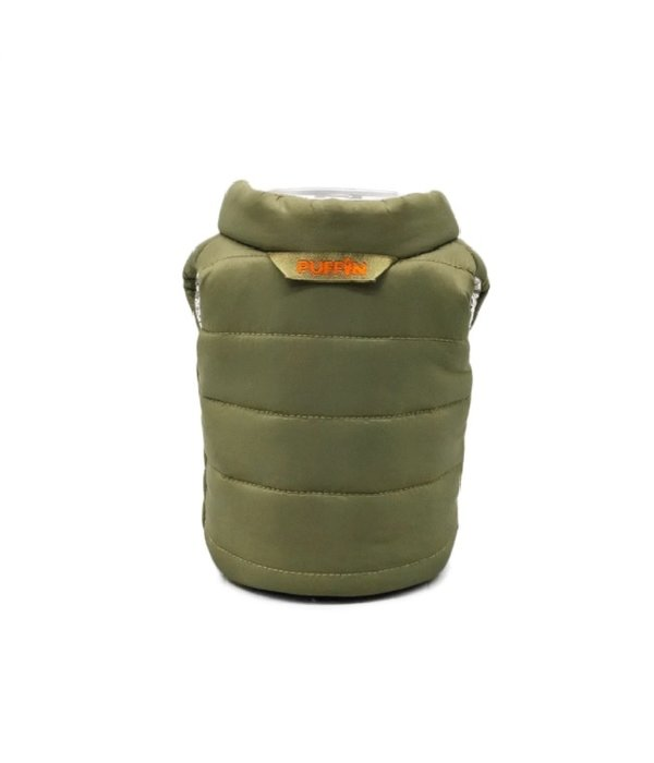 Puffin Coolers Vest Koozie Green
