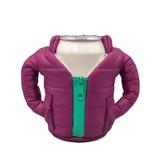 Puffin Coolers Koozie Jacket Plum