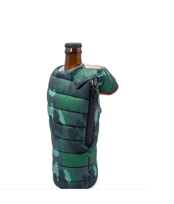 Puffin Coolers Sleeping Bag Koozie Camo