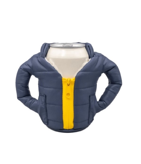 Puffin Coolers Jacket Koozie Blue