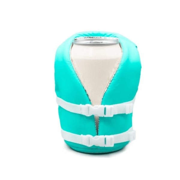 Life Jacket Koozie Blue