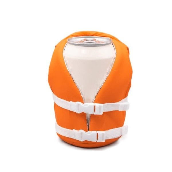 Life Jacket Koozie Orange