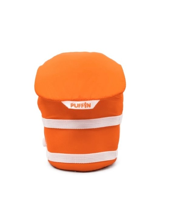 Puffin Coolers Life Jacket Koozie Orange