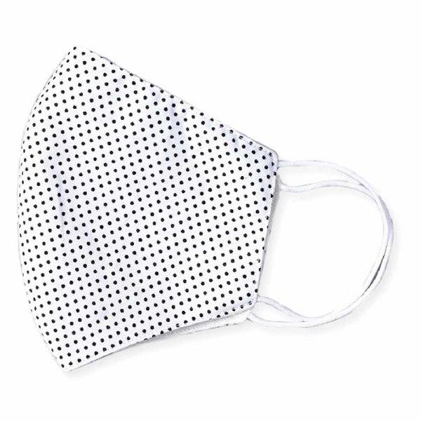 Face Mask Black & White Polka Dot