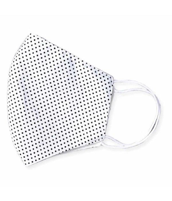 ZAD Face Mask Black & White Polka Dot
