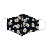 Zad Face Mask Black and White Daisy