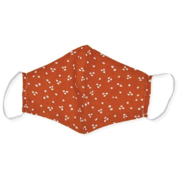 Face Mask Orange Polka Dot