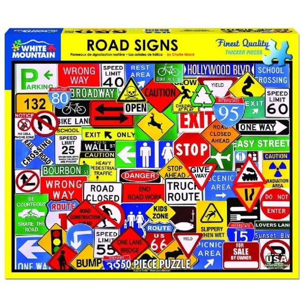 Road Signs 550 Piece Puzzle