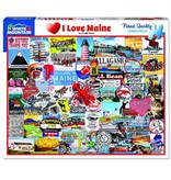White MTN Puzzles I Love Maine 1000 Piece Puzzle