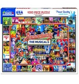 White MTN Puzzles Broadway 1000 Piece Puzzle