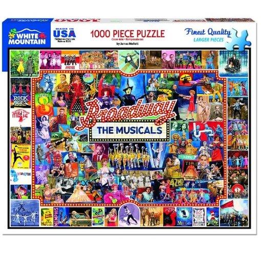 White MTN Puzzles Broadway 1000 Piece Puzzle