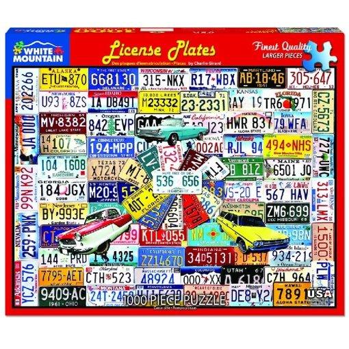 White MTN Puzzles License Plates 1000 Piece Puzzle