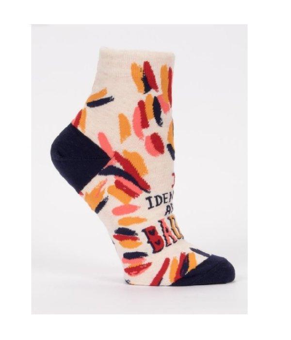 Blue Q I Identify As A Badass Women's Ankle Socks