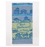 Blue Q Best Restaurant In Town Dish Towel