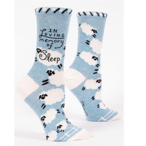 Blue Q In Loving Memory of Sleep Women's Socks