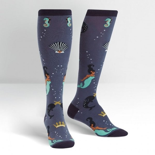 Deep Sea Queen Knee High Women's Socks