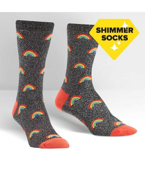 Rainbow Glitter Women's Socks