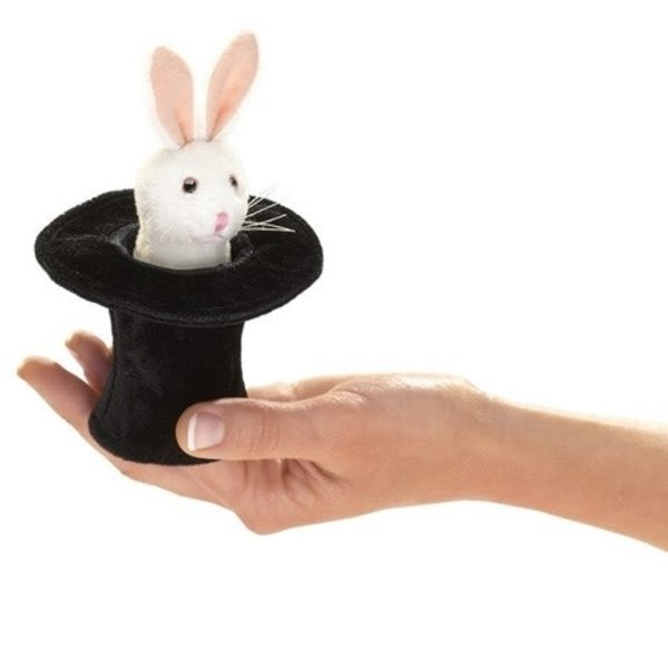 Rabbit In Hat Finger Puppet