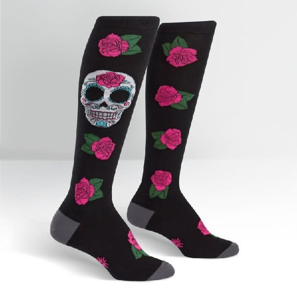 Sugar Skull Knee High Socks