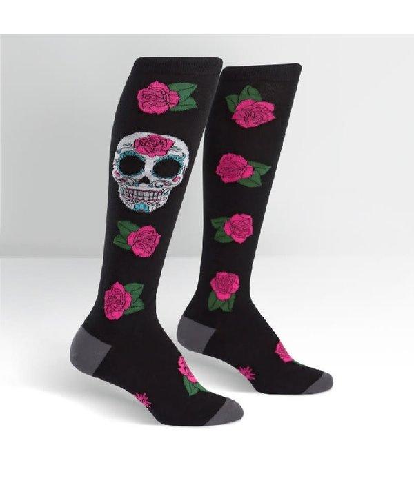 Sugar Skull Knee High Socks