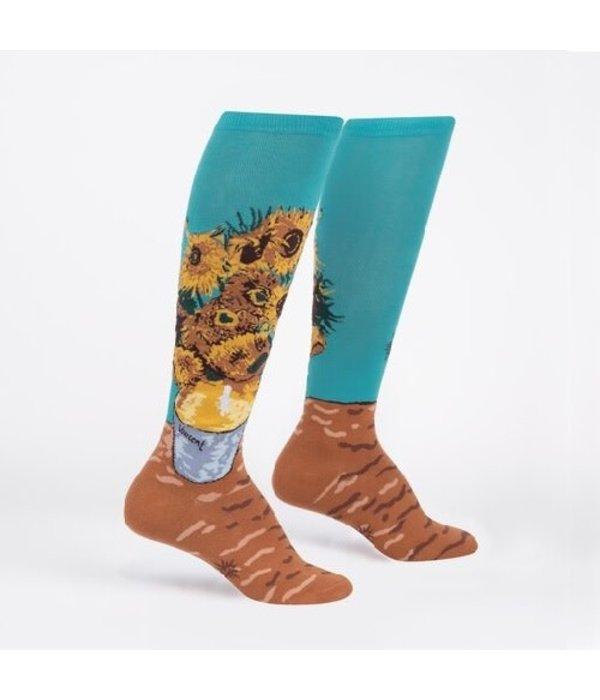 Funky Sunflowers Knee High Socks