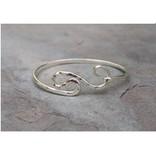 Sterling Silver Hammered Shape Bracelet