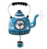 Allen Designs Blue Tea Kettle Clock