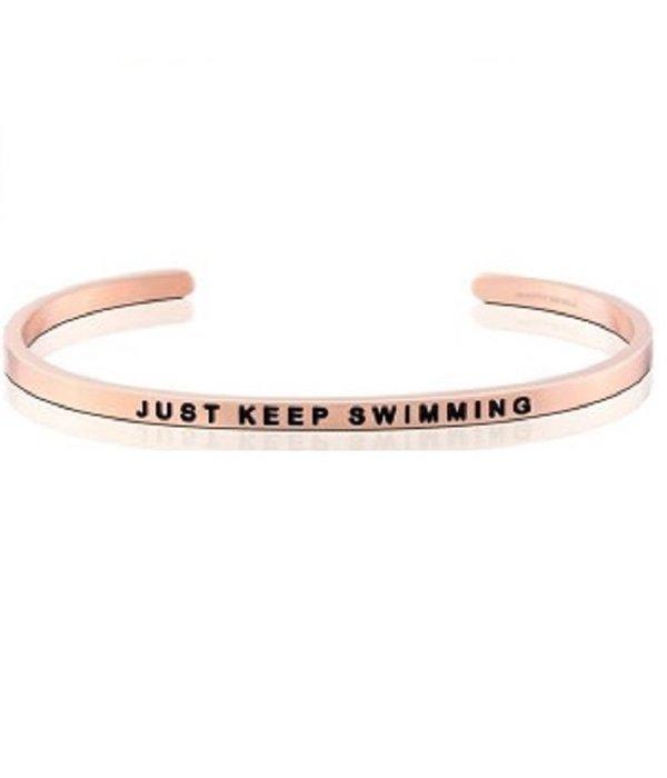 Just Keep Swimming Rose Gold Bracelet