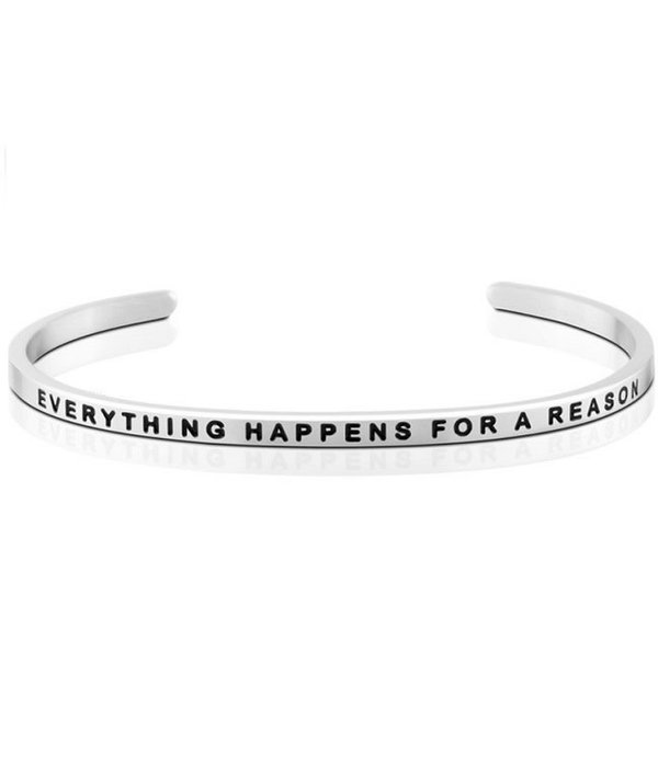 Everything Happens For A Reason Silver Bracelet